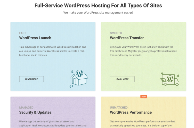 WordPress Hosting Siteground
